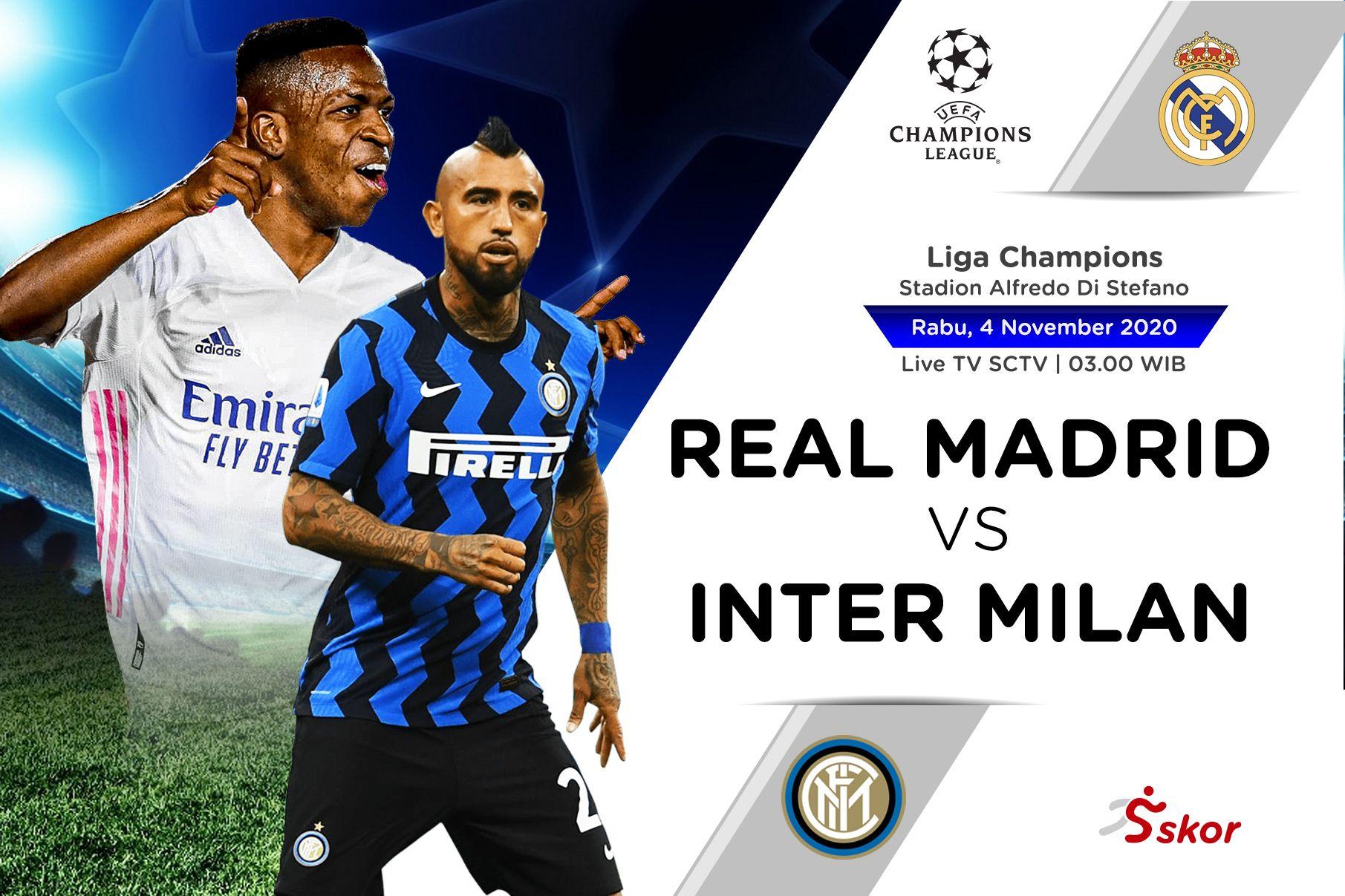 Perkiraan Line Up Real Madrid Vs Inter Milan Koran Pagi